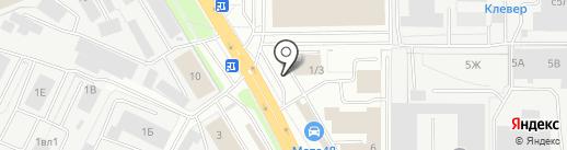 Автоблеск на карте Липецка
