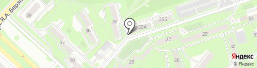 Пролетарский на карте Липецка