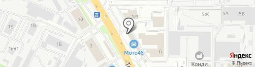 Сантехпромснаб на карте Липецка