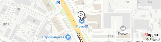 Газ детали машин на карте Липецка
