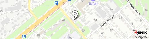 Киоск по ремонту обуви на карте Липецка