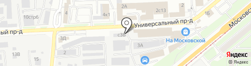 Магазин автошин и автодисков на карте Липецка