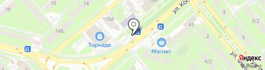 Сеть мастерских по чистке подушек на карте Липецка