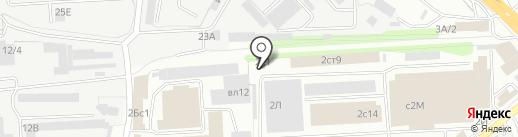 Берёзка на карте Липецка