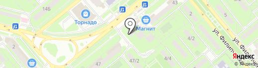 Нотариус Бурдачева Н.В. на карте Липецка