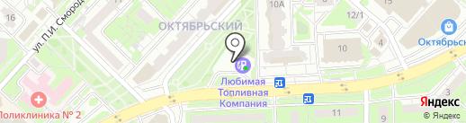 АЗС ЛТК на карте Липецка