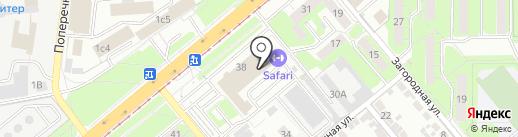 Комфортел на карте Липецка