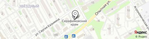 Храм преподобного Серафима Саровского на карте Липецка