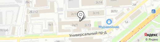 Эгида на карте Липецка