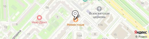 Уютека на карте Липецка