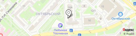 Гирос на карте Липецка