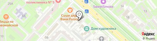 Манон на карте Липецка