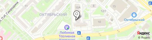 Очаково на карте Липецка
