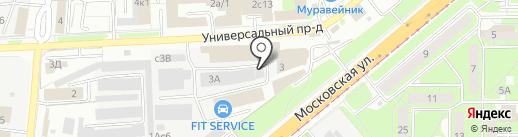 Экскаватор 48 на карте Липецка