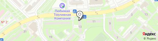 Парс на карте Липецка