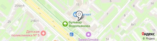 Пупс на карте Липецка