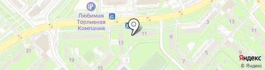 Баттерфляй на карте Липецка