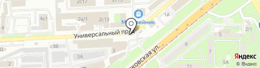 Автостар на карте Липецка