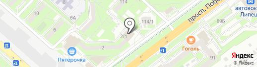 Салон мебельных тканей на карте Липецка