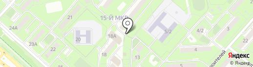Северяночка на карте Липецка