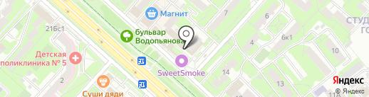 Феникс на карте Липецка