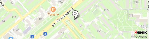 Егоза на карте Липецка