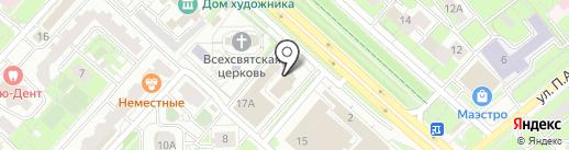 Артико Холл на карте Липецка