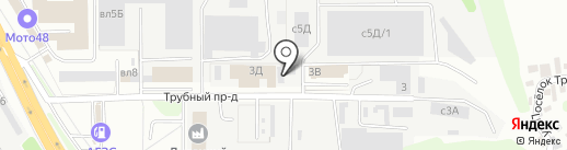 Авангард на карте Липецка