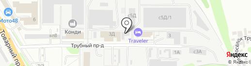 Вертикаль на карте Липецка