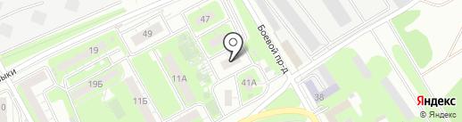 Домостроительный комбинат на карте Липецка