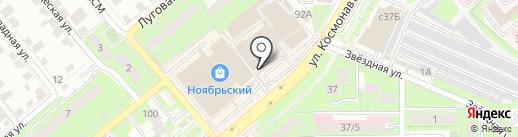 Магазин хозяйственных товаров на ул. Космонавтов на карте Липецка