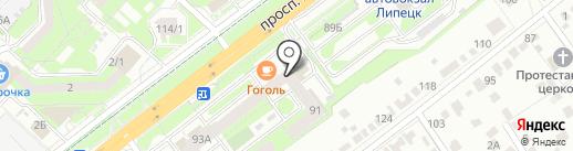 Русичъ-Л на карте Липецка