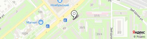 Лето Банк на карте Липецка