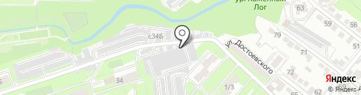 Автомойка на 15-ом микрорайоне на карте Липецка
