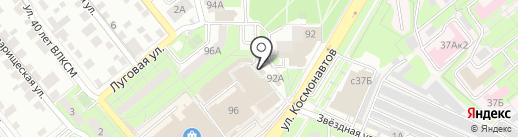 Магазин лакокрасочных материалов и обоев на карте Липецка