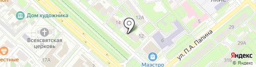 Кибетрон на карте Липецка