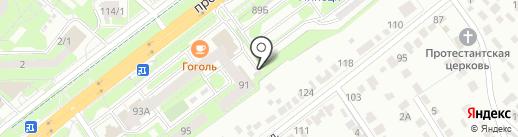 Стеклофф на карте Липецка