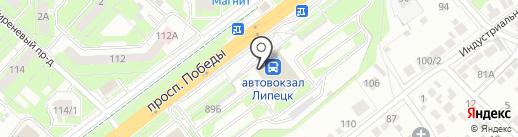 Хостел на карте Липецка