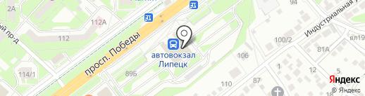 Модистка на карте Липецка