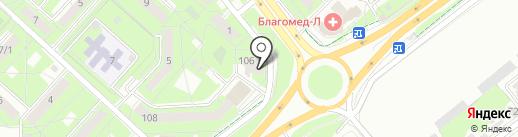 ДентАлекс на карте Липецка