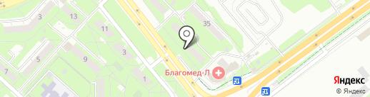 Эва на карте Липецка