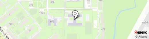 Средняя общеобразовательная школа №50 на карте Липецка