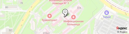 Липецкая областная инфекционная клиническая больница на карте Липецка