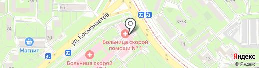 Городская больница скорой медицинской помощи №1 на карте Липецка