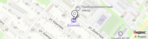 Базилик на карте Липецка