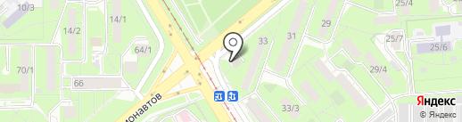 Раковая №1 на карте Липецка