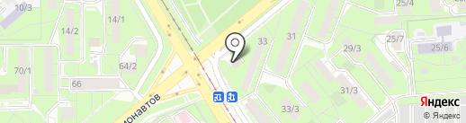 Стальнофф на карте Липецка