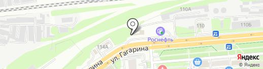 Жигуленок на карте Липецка