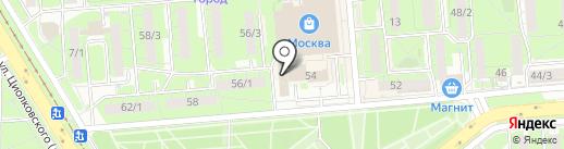 Департамент образования на карте Липецка
