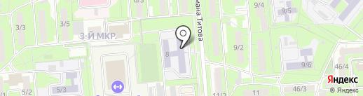 Средняя общеобразовательная школа №46 на карте Липецка